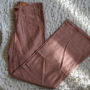 Pilcro Linen Wide Leg Trousers